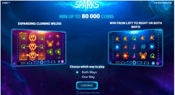 Sparks pokies