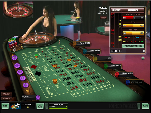 High Limit Roulette tables