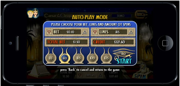 Auto play feature in pokies