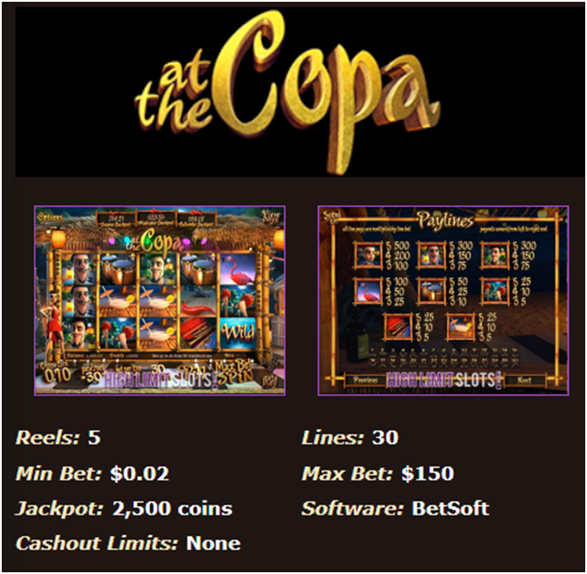 At the copa pokies