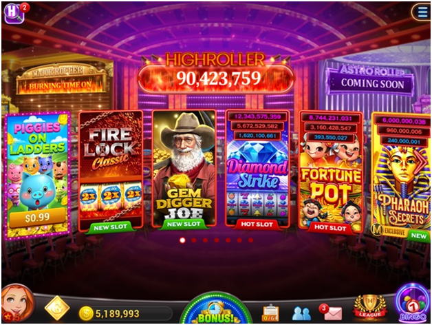 Features of the High Roller Vegas Casino Pokies
