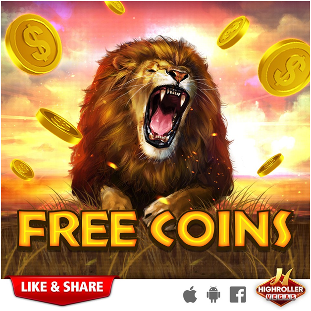 How to get free coins at High Roller Vegas Casino Pokies